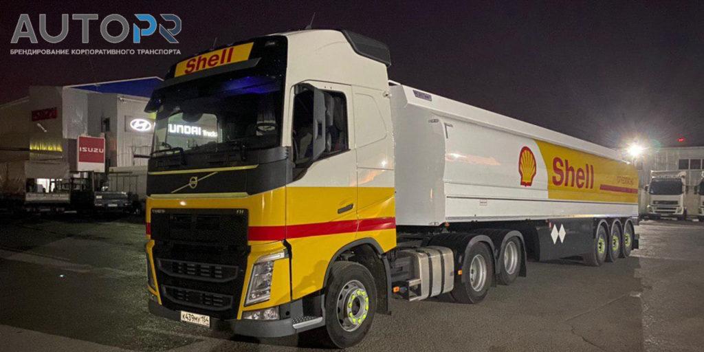 оклейка грузовика Shell 3