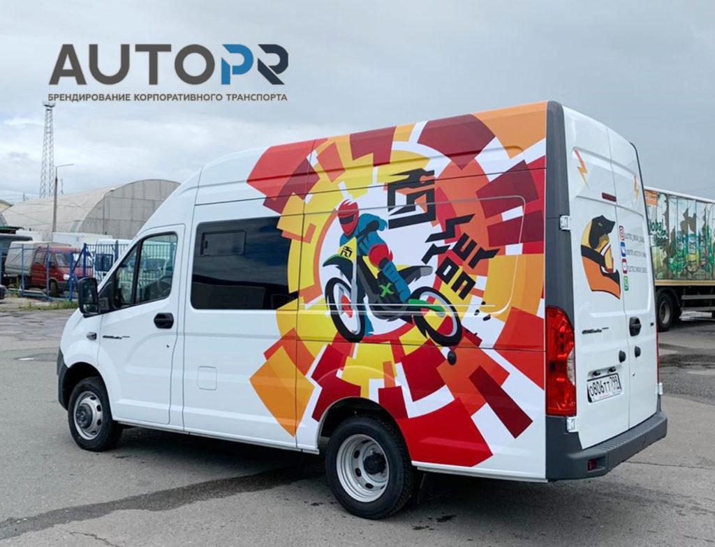 оклейка фургона Electric Enduro School 1